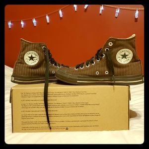 Chocolate Striped High Top Converse (Chuck Taylor)
